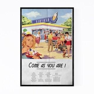 Noir Gallery Nirvana Rock Music Retro Poster Framed Art Print