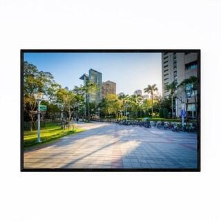 Noir Gallery Taipei Taiwan Park Cityscape Framed Art Print