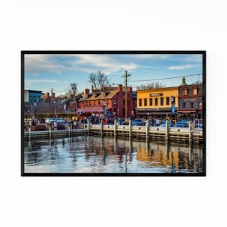Noir Gallery Fells Point Waterfront Baltimore Framed Art Print