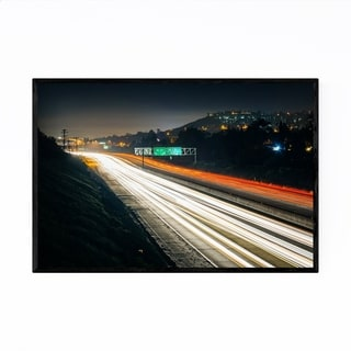 Noir Gallery La Mesa San Diego Highway Night Framed Art Print