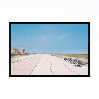 Noir Gallery Rockaway Beach Boardwalk NYC Framed Art Print