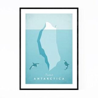 Noir Gallery Minimal Travel Poster Antarctica Framed Art Print