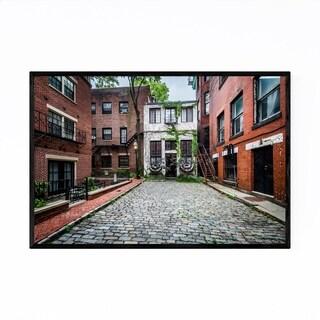 Noir Gallery Boston Beacon Hill Cobblestone Framed Art Print