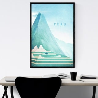 Noir Gallery Minimal Peru Travel Poster Framed Art Print