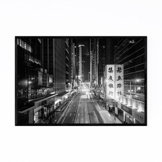 Noir Gallery Hong Kong Night Cityscape Framed Art Print