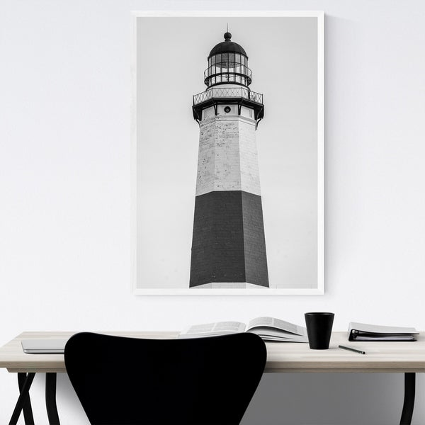 BLACK AND WHITE LIGHTHOUSE CANVAS PRINT PICTURE WALL ART FREE FAST DELIVERY