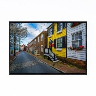 Noir Gallery Row Houses Annapolis Maryland Framed Art Print