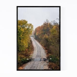 Noir Gallery Fall Color along Railroad Framed Art Print