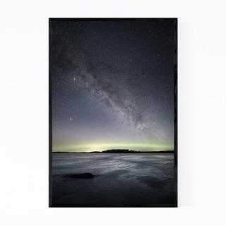 Noir Gallery Aurora Borealis Finland Lake Framed Art Print