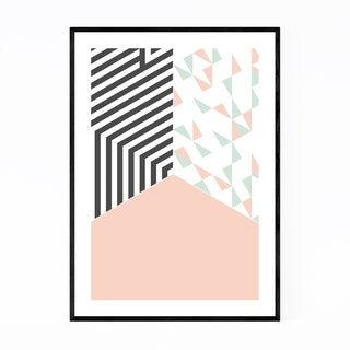 Noir Gallery Abstract Shapes Pastel Pattern Framed Art Print