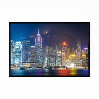 Noir Gallery Hong Kong Victoria Peak Skyline Framed Art Print