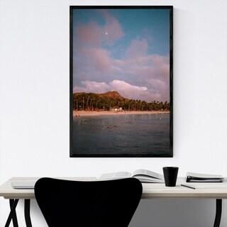 Noir Gallery Honolulu Hawaii Beach Coastal Framed Art Print