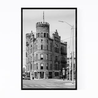 Noir Gallery Black & White Detroit Michigan Framed Art Print