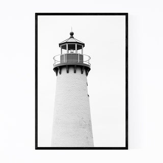 Noir Gallery Detroit Coastal Lighthouse Framed Art Print