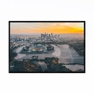 Noir Gallery Dodgers Stadium Los Angeles View Framed Art Print