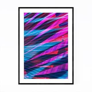 Noir Gallery Abstract Blue & Purple Palms Framed Art Print