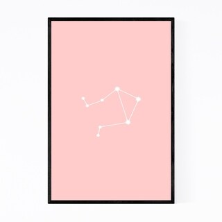 Noir Gallery Pink Libra Astrology Zodiac Framed Art Print