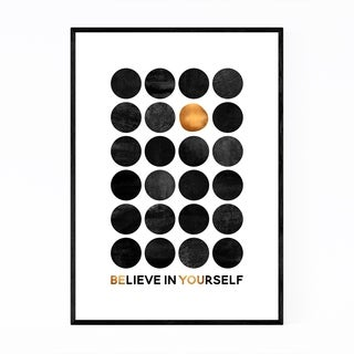 Noir Gallery Believe in Yourself Typography Framed Art Print