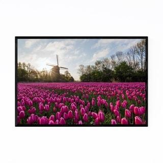 Noir Gallery Dutch Wildmill Tulip Netherlands Framed Art Print
