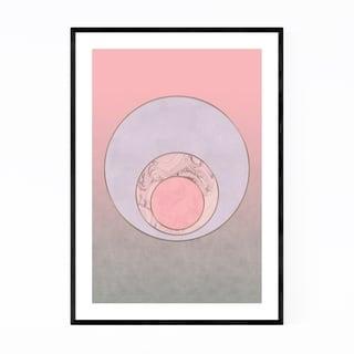Noir Gallery Abstract Minimal Pink Circle Framed Art Print