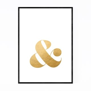 Noir Gallery Gold Ampersand Typography Framed Art Print