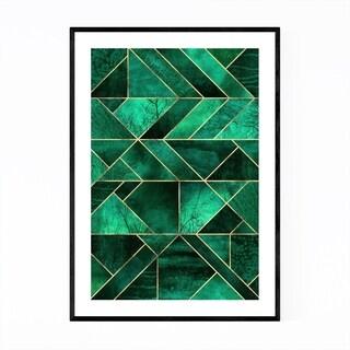 Noir Gallery Blue Abstract Nature Geometric Framed Art Print
