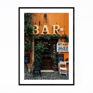 Noir Gallery Rome Italy Trastevere Bar Photo Framed Art Print