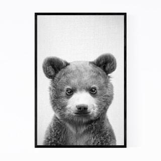 Noir Gallery Cute Baby Bear Peekaboo Animal Framed Art Print