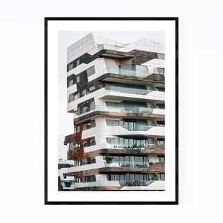 Noir Gallery Modern Architecture Milan Italy Framed Art Print