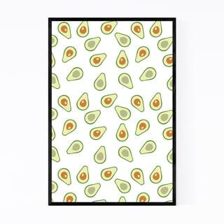 Noir Gallery Avacado Kitchen Fruit Pattern Framed Art Print