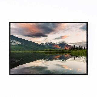 Noir Gallery Vermilion Lakes Banff Alberta Framed Art Print
