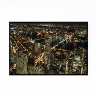 Noir Gallery Manhattan Skyline Cityscape NYC Framed Art Print