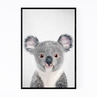 Noir Gallery Cute Baby Koala Peekaboo Animal Framed Art Print