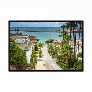 Noir Gallery Corona del Mar California Beach Framed Art Print