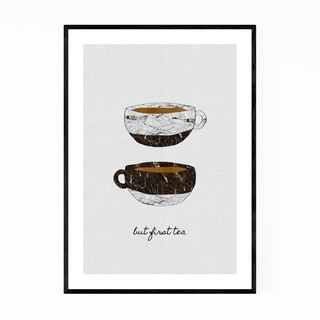 Noir Gallery Cute Tea Cup Kitchen Typography Framed Art Print
