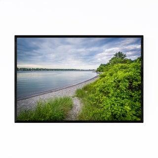 Noir Gallery New Hampshire Coastal Beach Framed Art Print