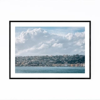 Noir Gallery Naples Italy Coastal Views Framed Art Print