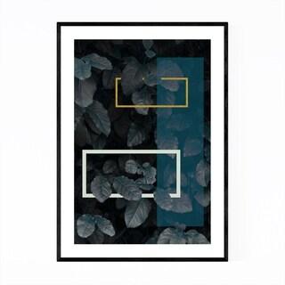 Noir Gallery Geometric Abstract Leaf Digital Framed Art Print
