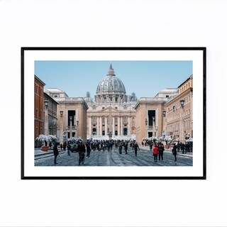 Noir Gallery Rome Italy St. Peter's Basilica Framed Art Print