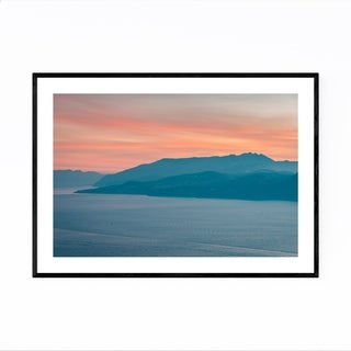 Noir Gallery Capri Italy Coastal Beach Photo Framed Art Print