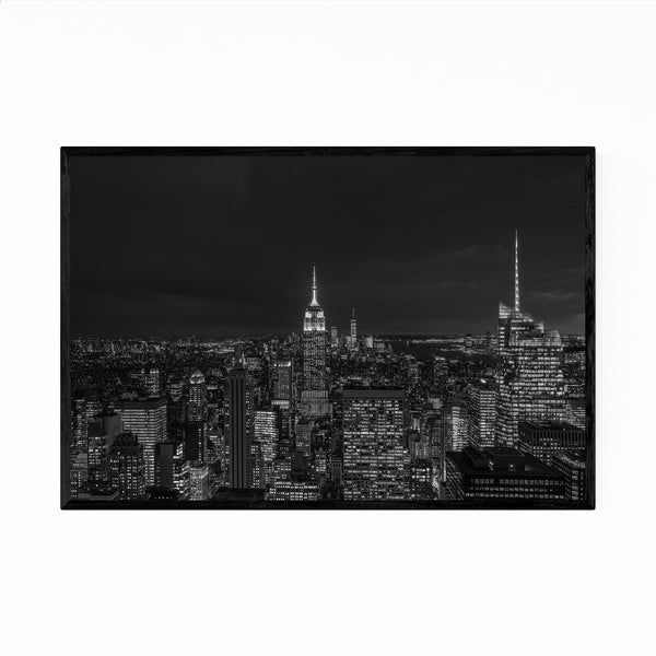 Noir Gallery Black & White New York Skyline Framed Art Print