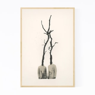Noir Gallery Abstract Trees Vintage Collage Framed Art Print