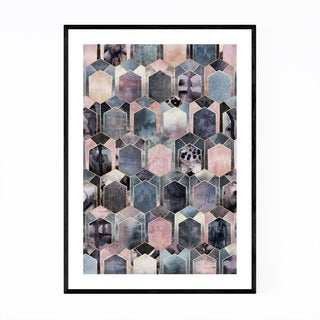 Noir Gallery Geometric Abstract Art Deco Framed Art Print