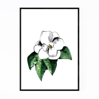 Noir Gallery Watercolor Magnolia Flower Framed Art Print