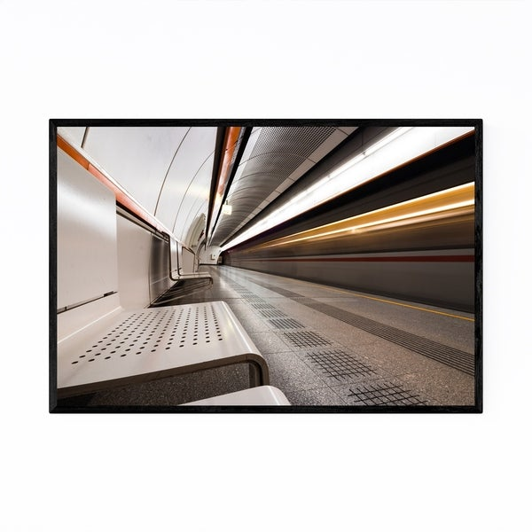 Shop Noir Gallery Vienna U Bahn Station Austria Framed Art Print