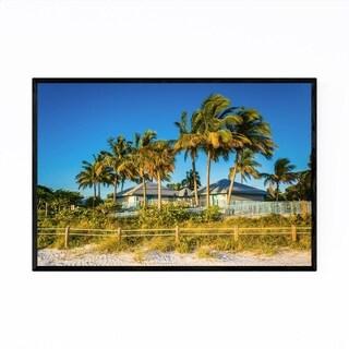 Noir Gallery Fort Myers Beach, Florida Palms Framed Art Print