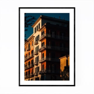 Noir Gallery Salerno Italy Architecture Framed Art Print