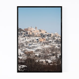 Noir Gallery Tuscany Italy Snow Winter Nature Framed Art Print