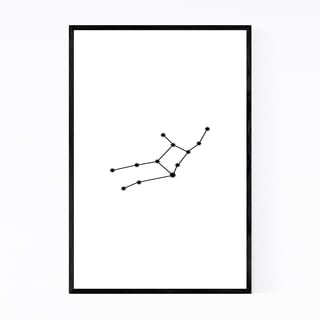 Noir Gallery Minimal Virgo Astrology Zodiac Framed Art Print