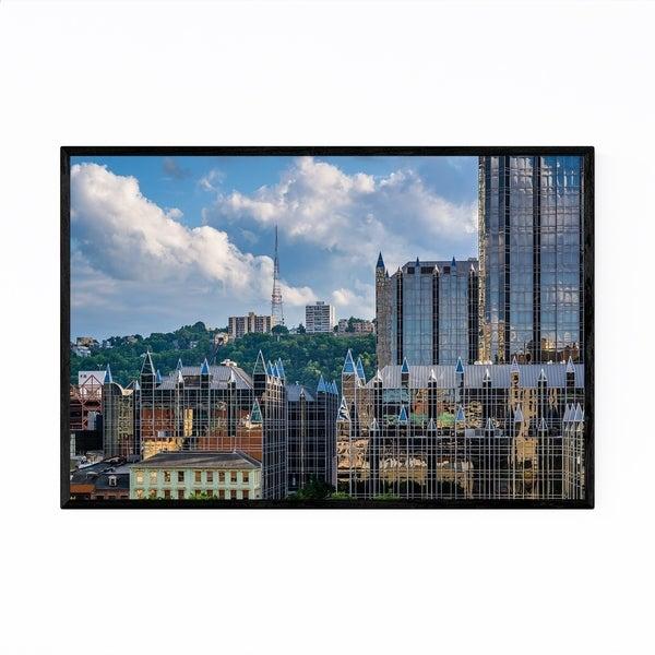 Noir Gallery Pittsburgh Skyline Cityscape Framed Art Print